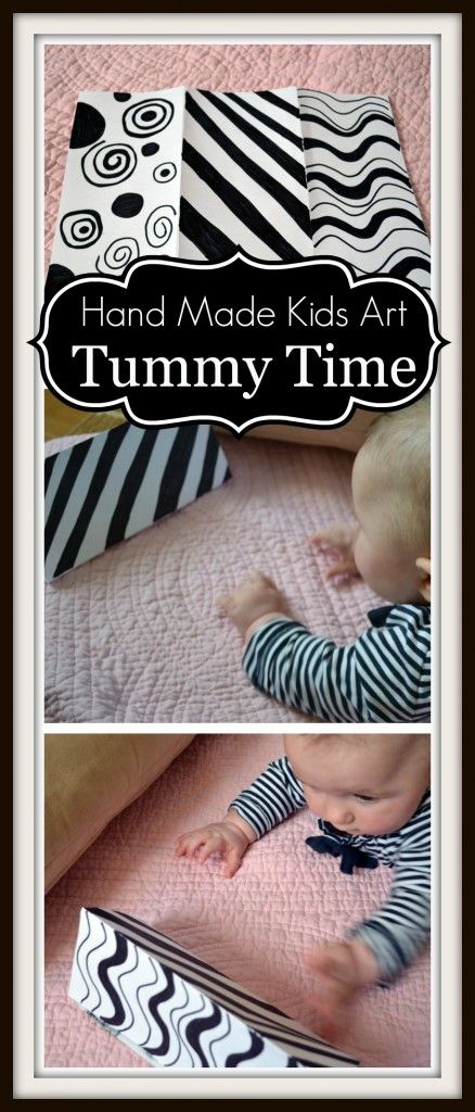 Tummy Time Art This one is for all the babies that were just born this past month. I know quite a few! High contrast patterns are suppose to help develop an infant's eye sight. This is why many baby toys come in black and white patterns. You can make your own with a piece of [...]