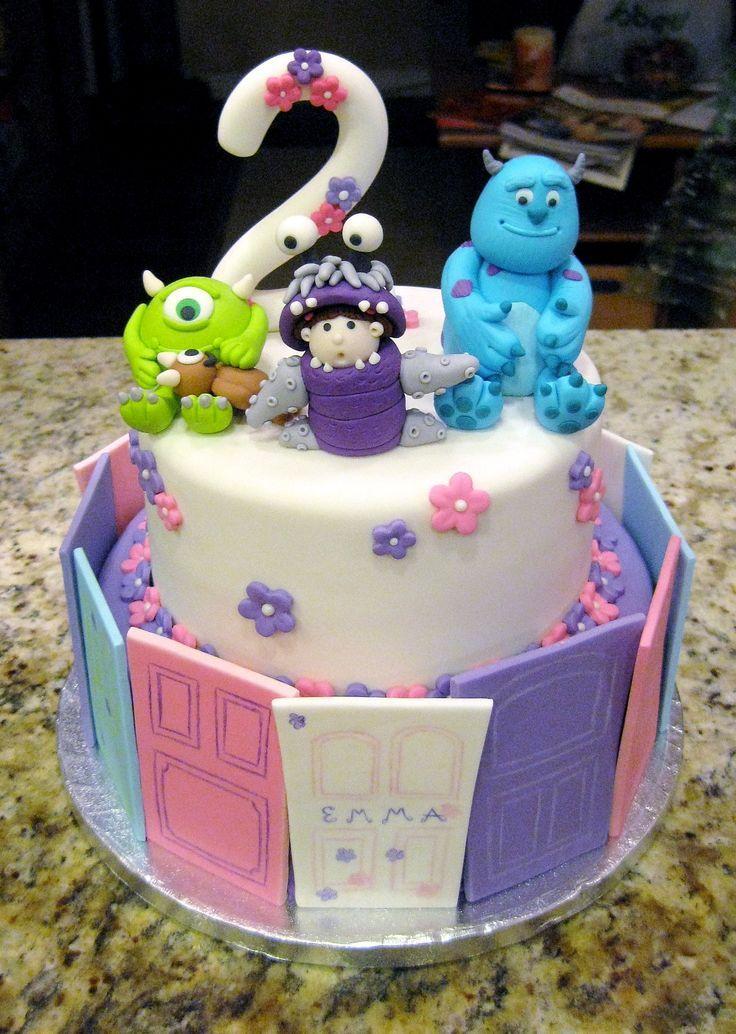 Monster Inc Cake Toppers Finley S 2nd Birthday Monster