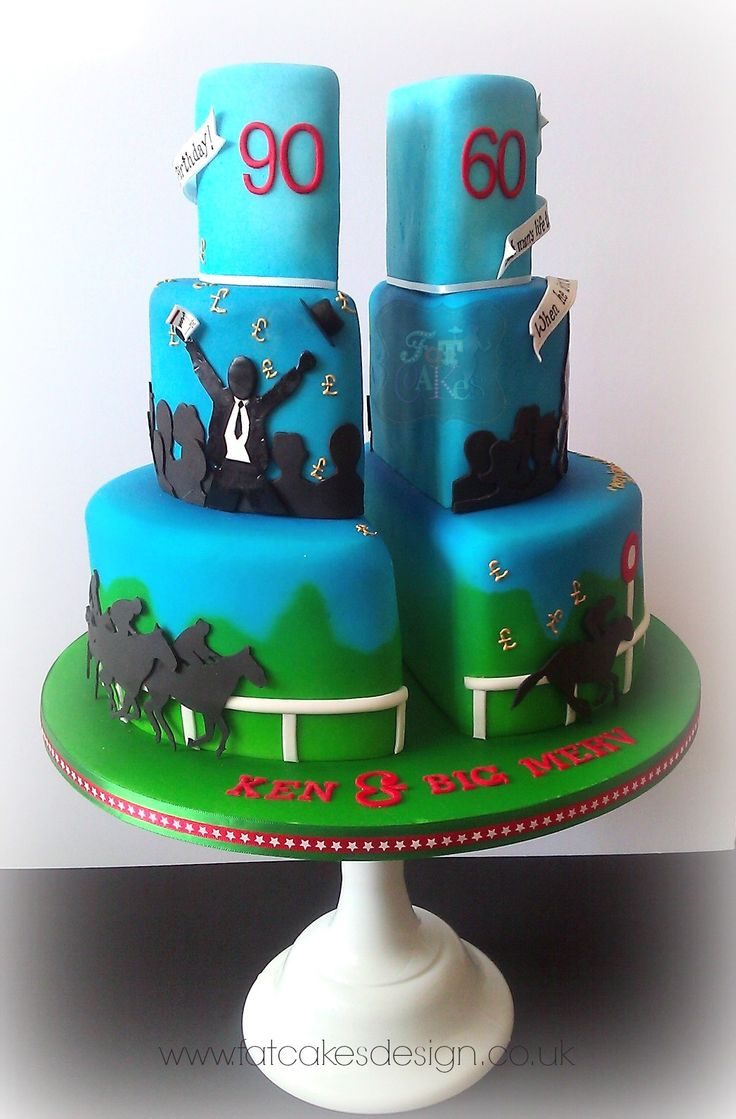 Both Father And Son Into Horse Racing Cakes Wish List
