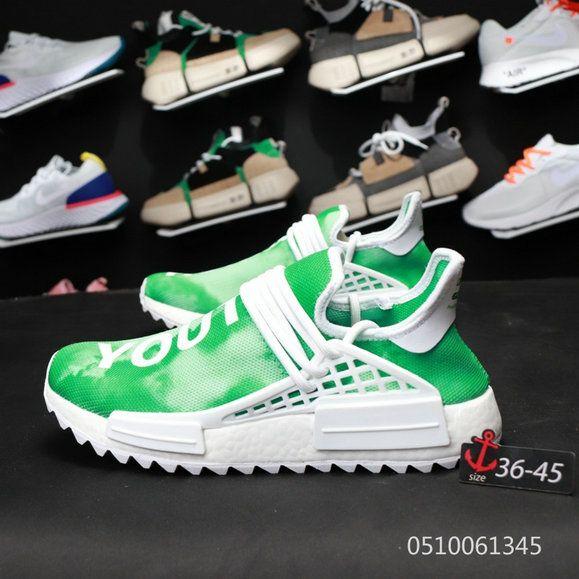 designer fashion 27b75 e644e Pharrells Adidas NMD Human Race China Exclusive F99760 Green ...