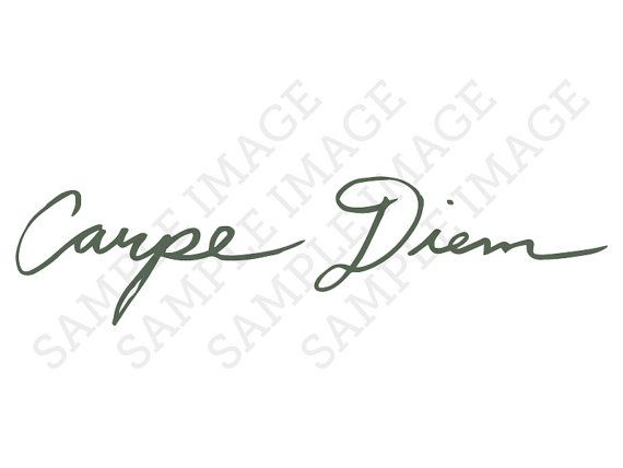 Hey, I found this really awesome Etsy listing at https://www.etsy.com/listing/177123974/carpe-diem-latin-calligraphy-cursive