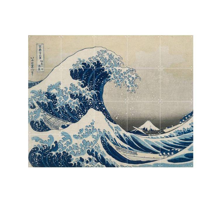 Wat een beauty! Deze gave wanddecoratie van IXXI is geïnspireerd op het schilderij 'The great wave' van Hokusai. Haal een Japans kunstwerk in huis en blijf ure
