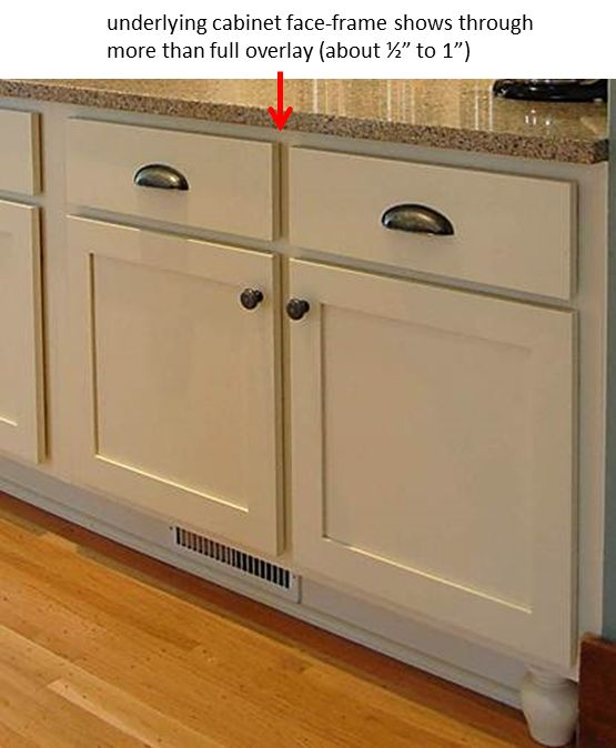 Partial Overlay Kitchen Cabinets