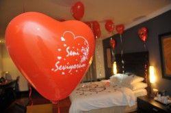- Seni Seviyorum Yazılı 10′lu Kalp Balon