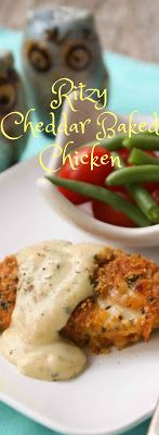 Ritzy Cheddar Baked Chicken_  easy winner winner chicken dinner that the kids love! Step-by-step photos.