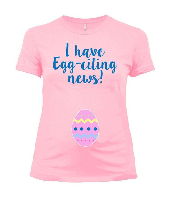 Easter Pregnancy Shirt Maternity T Shirt Spring Announcement
