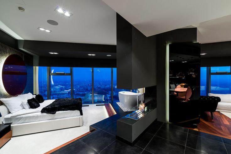Apartament w miedzi na 36. piętrze SKY TOWER  #Wroclaw #Wroclove #SkyTower #apartamenty #wnętrza #interiors #design
