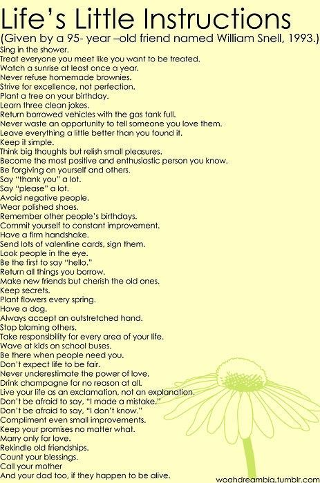 Life-instructions-from-a-95-year-old Life-instructions-from-a-95-year-old Life-instructions-from-a-95-year-old: Life Instructions, Little Things, Life Lessons, Old Man, 95 Years, Good Advice, Wise Words, New Years, Life Advice
