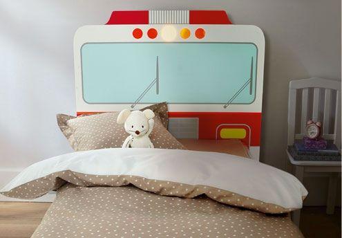 Tête de lit Pompier lumineuse