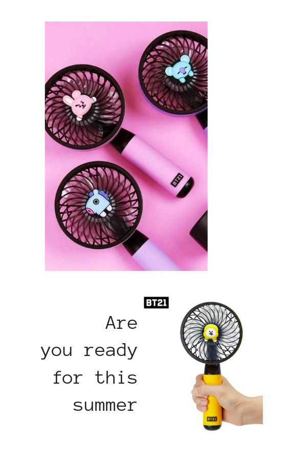 CHIMMY BT21 Official Baby Mini Handheld Personal Portable Fan