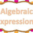 "24 task cards geared towards students learning solving algebraic expressions such as ""A number increased by 4"" would be ""n + 4"""