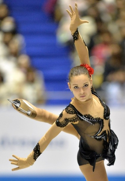 Russia's Adelina Sotnikova performs in the women's short program at the World Team Trophy figure skating competition in Tokyo on April 11, 2013.