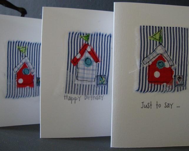 beach hut birthday card £3.50