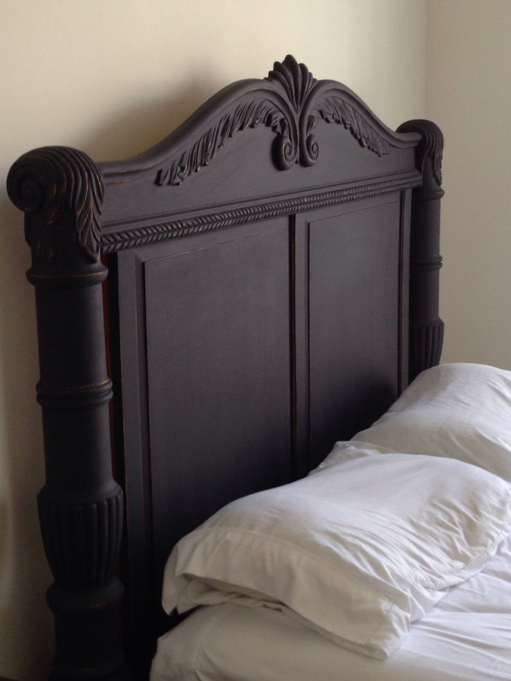 chalk painted headboard before and after furniture