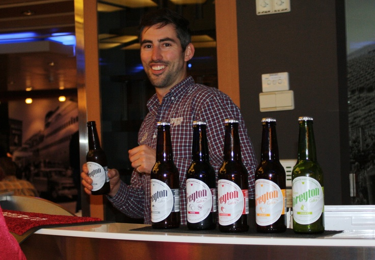 Spreyton Cider Tasting on board Spirit of Tasmania in May