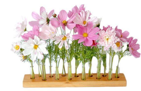 wood vase romatic by Myflowermeadow on Etsy