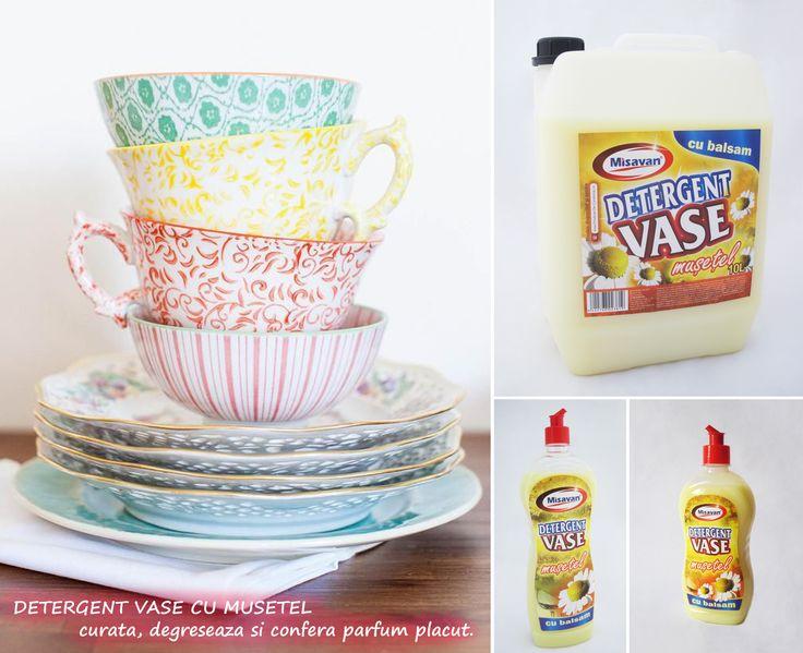 Detergent pentru vase cu musetel - curata si degreseaza eficient: http://www.produse-horeca.ro/bucatarie/misavan-vase-musetel-balsam-10l #curatenie #vase #misavan. Produsul este disponibil in variantele de 500ml, 1L si 10L.