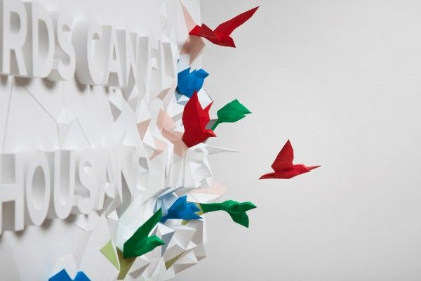 Words Can Fly: A 3D Typographic Poster in Support of Fukushima, Japan
