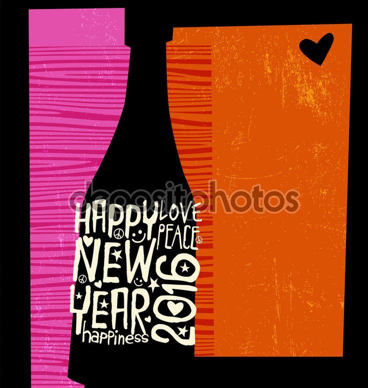 Скачать - Счастливый Новый год 2016 ретро-дизайн с пространством для текста — стоковая иллюстрация #88862848