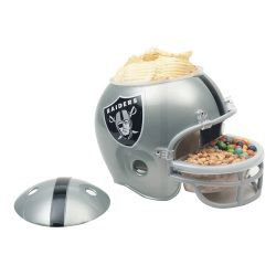oakland raiders snack helment