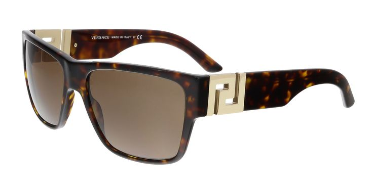 Versace VE4296 108/73 Havana Rectangle Sunglasses