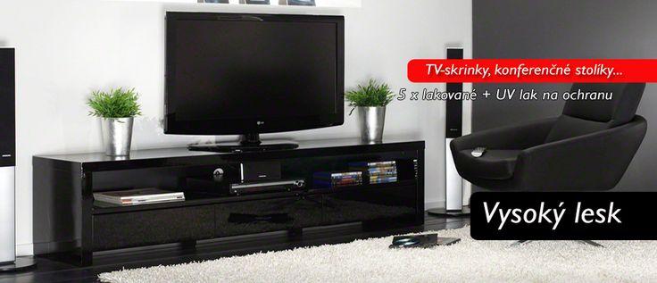 TV-skrinky z vysokého lesku http://www.komfort-nabytok.sk