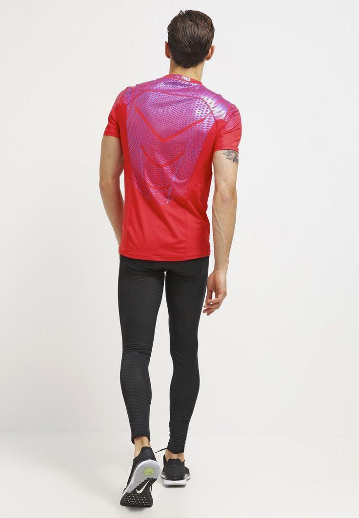 Nike Performance PRO HYPERCOOL - T-Shirt print - university red/ metallic  blue für