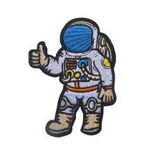 Astronaut Een reis naar ruimte patch Astronaut Thumps up Hand Symbool Kleding Tassen Jassen Jeans Geborduurde fasteners Patch