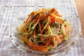焼肉のタレで簡単ウィンナー入り春雨サラダ|レシピブログ