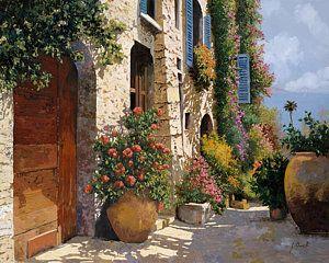 Painting - La Bella Strada by Guido Borelli