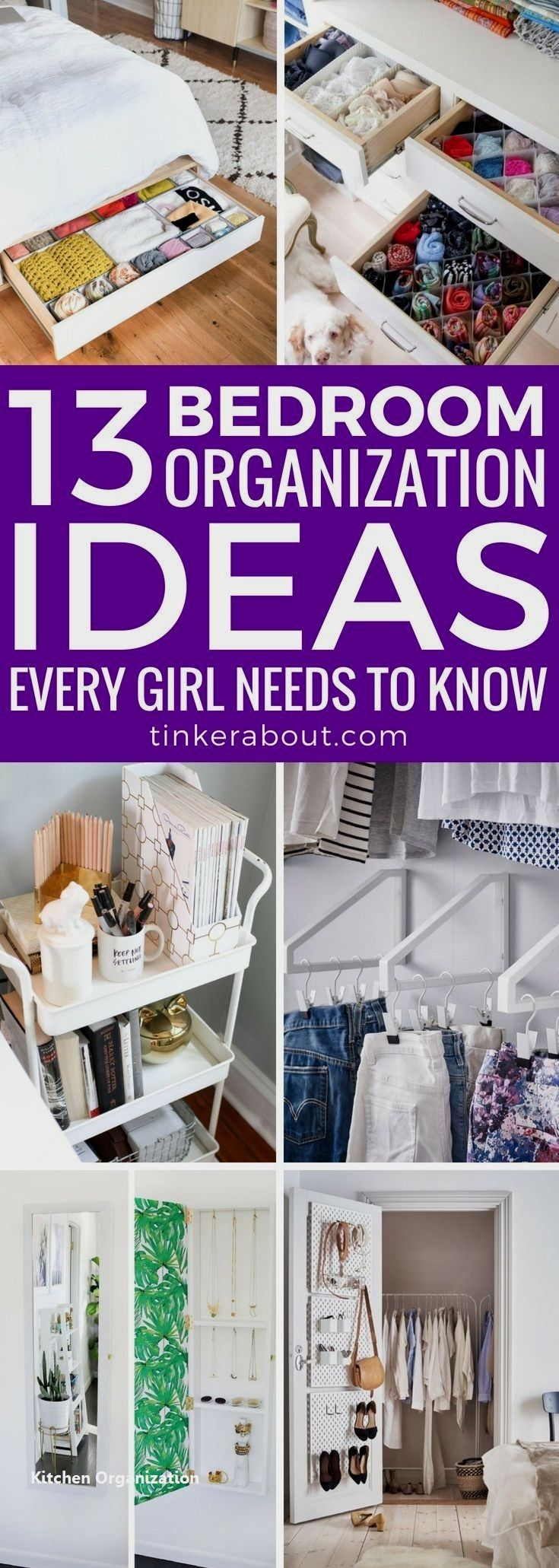 15 Smart Diy Organizing Ideas For Small Kitchen 2 Diy Storage Ideas For Small Bedrooms Small Room Organization Bedroom Organization Diy Bedroom room organization ideas