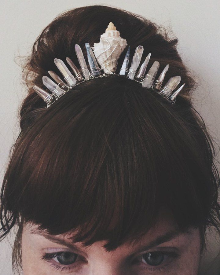 Crystal crowns for your inner mermaid