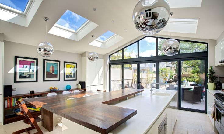 Great ceiling lights in extension