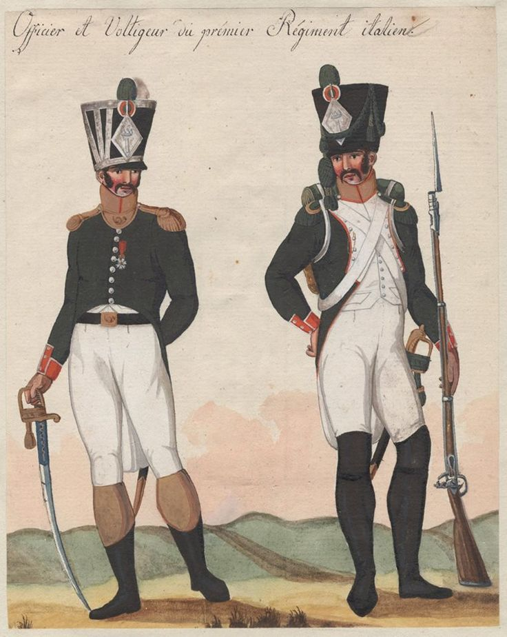 Italy - Officer and Fusilier of 1st Line Infantry Regt.