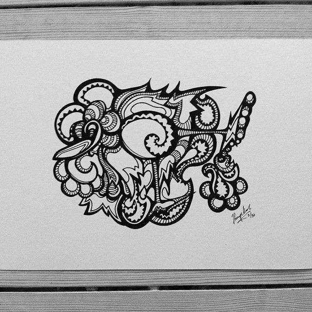 """Rollerblading Bird"" by hurupmunch Printed illustration on akvarel paper A4: Dkk 150,-"