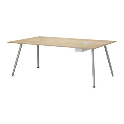 GALANT Conference Table, Birch Veneer Birch Veneer A Leg Silver Colour