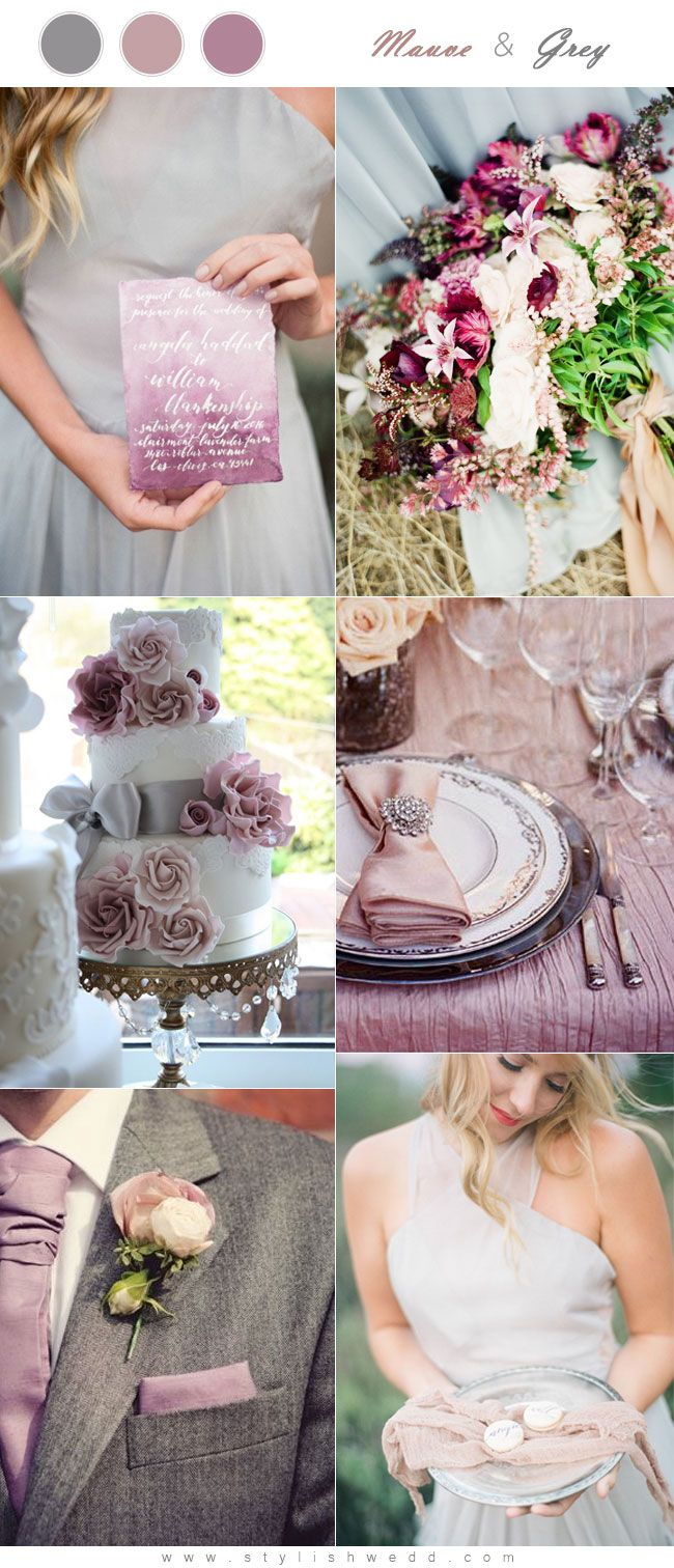 Mauve and Grey Wedding Color Palette