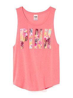 Boyfriend Tank - PINK - Victoria's Secret