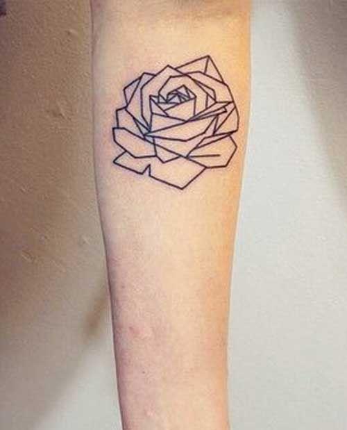 Cute Geometric Rose Tattoos