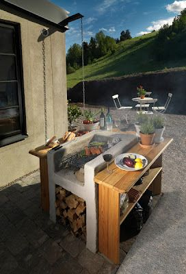 nice BBQ-place for a garden Designed by Ernst Kirchsteiger.