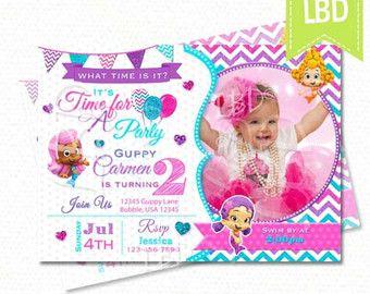 Bubble Guppies Birthday Invitation Bubble by MyPaperGardenLLC