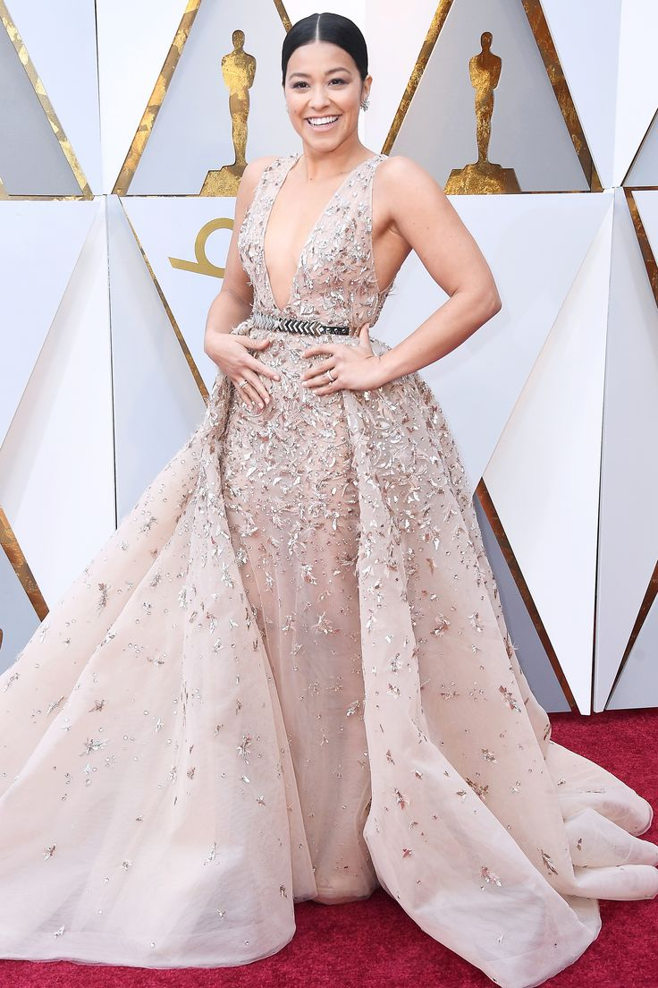 See All the 2018 Oscars Red Carpet Arrivals - Gina Rodriguez from InStyle.com