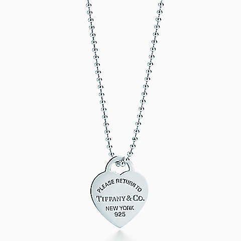 collana lunga Tiffany con cuore