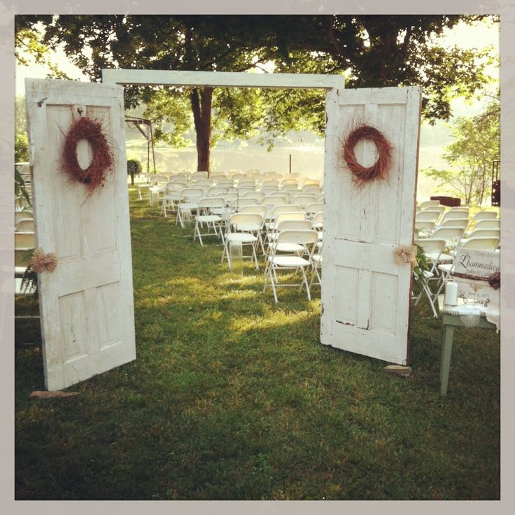 Gorgeous outdoor wedding in st. Elmo-I think that I would have some kind of wall across the entire back so that no one could see you.