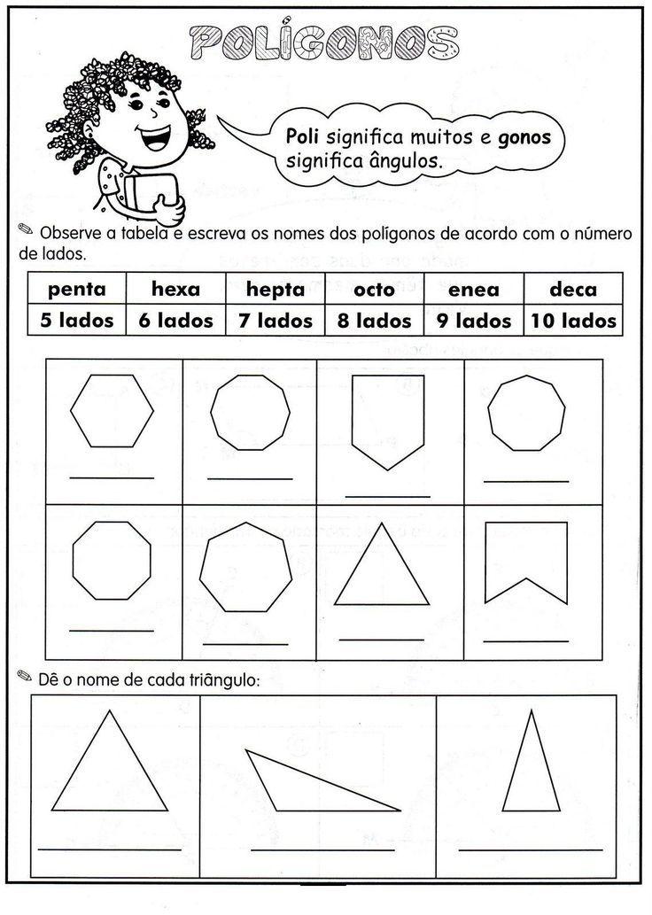 Poligonos Atividades De Geometria Atividades De Matematica