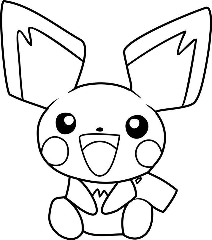 Free Printable Pictures Of Coloring Pokemon Pichu Pokemon Coloring Pikachu Coloring Page Pokemon Coloring Pages