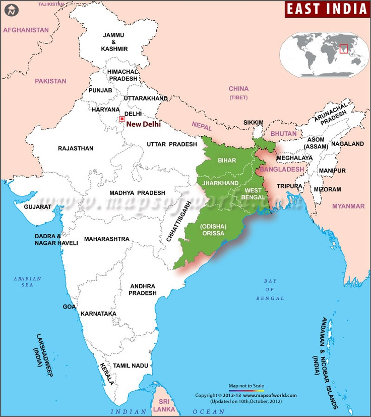 Bengal World Map map showing the #eastindia states west bengal ...