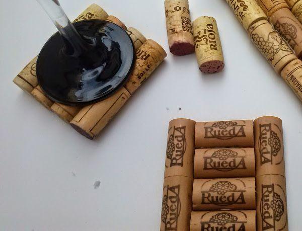 DIY: Servilletero y posavasos con corchos de vino
