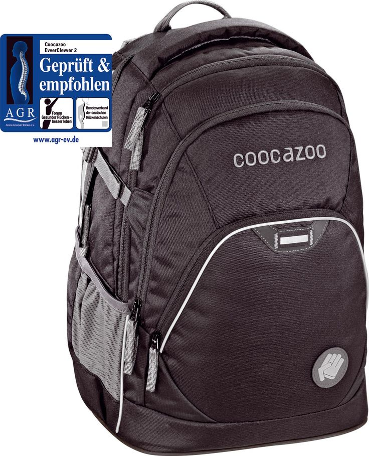Der Coocazoo evver clevver in beautiful black! Tolle Passform und moderne Features für clevere Schüler.