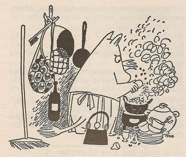 Moominmammas can fix everything.   50 Lessons That Moomins Can Teach You About Life